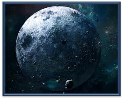 eLFonian moon Framed